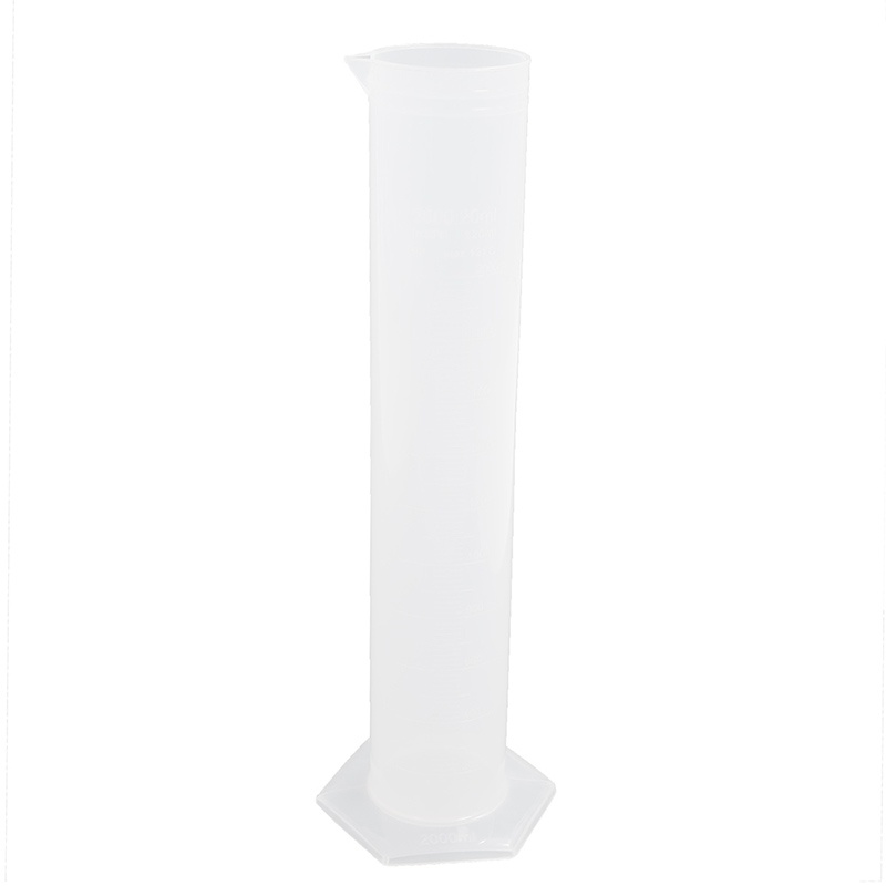 Plastic Graduated Cylinders for Office Laboratory School (2000 ml) White