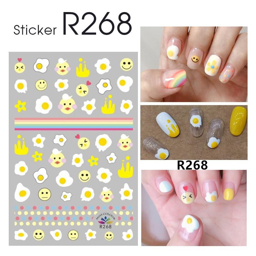 Sticker dán trang trí móng tay chân R268 DH7820 tốt nhất