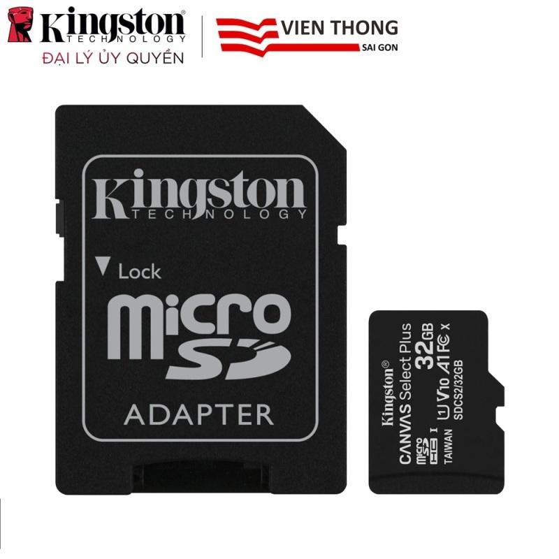 Thẻ nhớ 32GB Micro SDHC Kingston up to 80mb/s + Adpater + Tặng viết bi