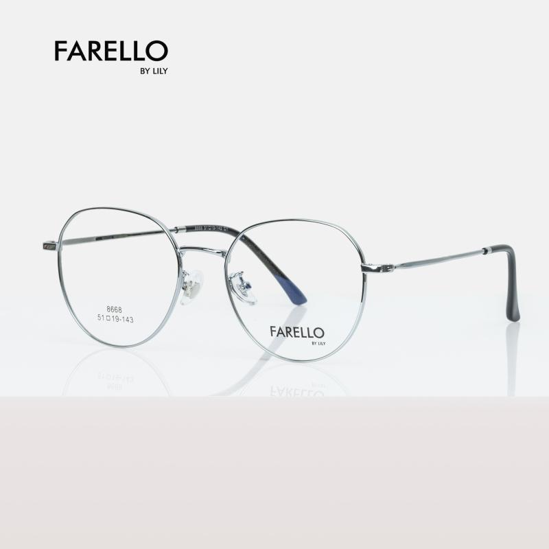 Mua Gọng kính kim loại mắt tròn nam nữa FARELLO, nhẹ nhàng thanh mảnh, phù hợp với nhiều khuôn mặt, màu sắc đa dạng, một size ACACIA - 8868