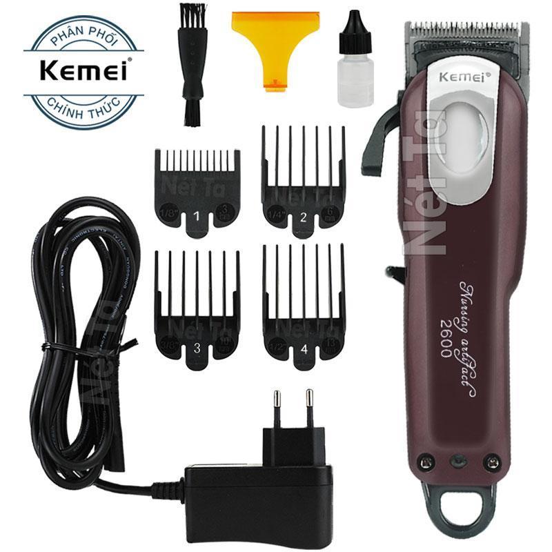 [HCM]Tông đơ cắt tóc không dây Kemei 2600