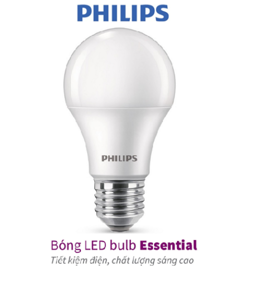 Bóng Philips LED bulb Essential E27 (5W,7W,9W,11W,13W) - E27 (3000K/6500K)