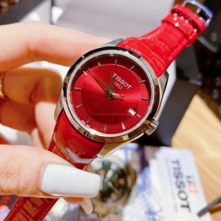 Đồng hồ nữ dây da TI OTT TS008 Size 32mm, Đồng hồ nữ mặt tròn chống nước, Đồng hồ nữ cao cấp thumbnail