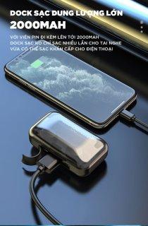Tai Nghe Bluetooth Không Dây Amoi F95 Bản Cao Cấp Hỗ Trợ Mọi Dòng Máy - Tai Nghe Bluetooth 5.0 - Tai nghe bluetooth pin trâu - Tai nghe nhét tai không dây bluetooth, Tai nghe bluetooth mini - Tai nghe i7s, i9s, i11s, Amoi f9 2