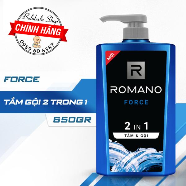 Tắm gội 2 trong 1 Romano Force 650gr lịch lãm phiên bản Deluxe nhanh chóng tiện dụng giá rẻ