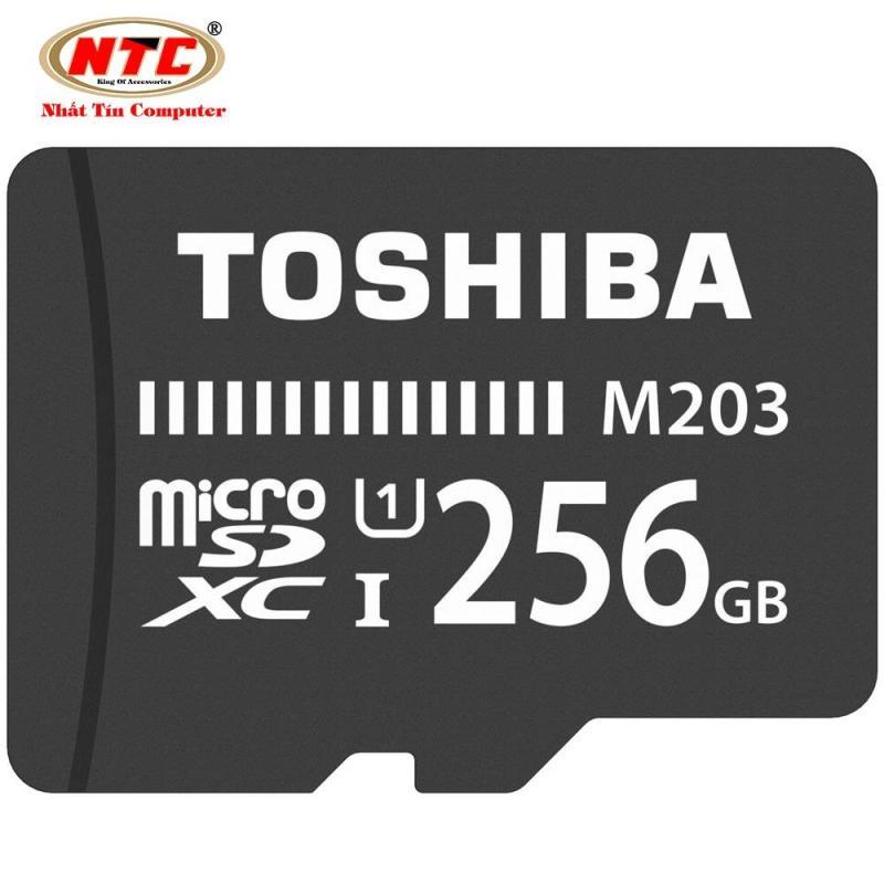 Thẻ nhớ MicroSDXC Toshiba M203 256GB UHS-I U1 100MB/s - chuyên camera và điện thoại (Đen)
