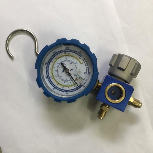 Đồng hồ nạp gas lạnh đơn Value VMG-1-S-L ( Áp thấp_màu Xanh )