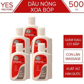 Bộ 5 Dầu nóng Xoa Bóp Hàn Quốc Antiphlamine 100ml - Đau nhức xoa bóp massage cơ thể - Yesshop thumbnail