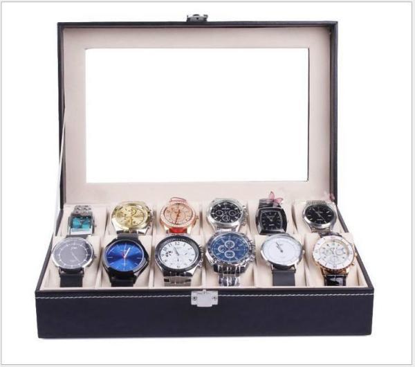 Nơi bán Hộp đựng 12 đồng hồ thiết kế da cao cấp, sang trọng