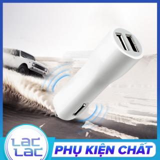 Cốc sạc trên ô tô 2 cổng USB tẩu sạc cho mọi điện thoại, máy tính bảng, sạc trên xe hơi thumbnail
