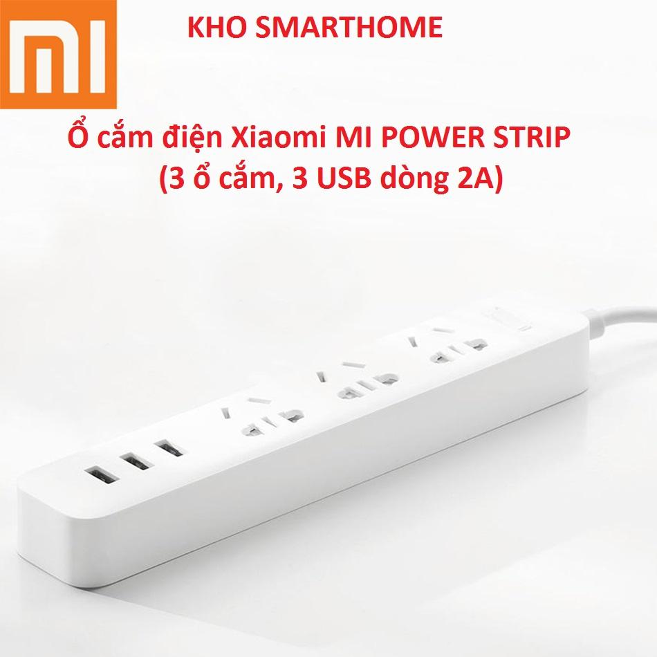 Ổ cắm điện Xiaomi (Mi Power Strip) với 3 ổ cắm điện, 3 USB 2A.