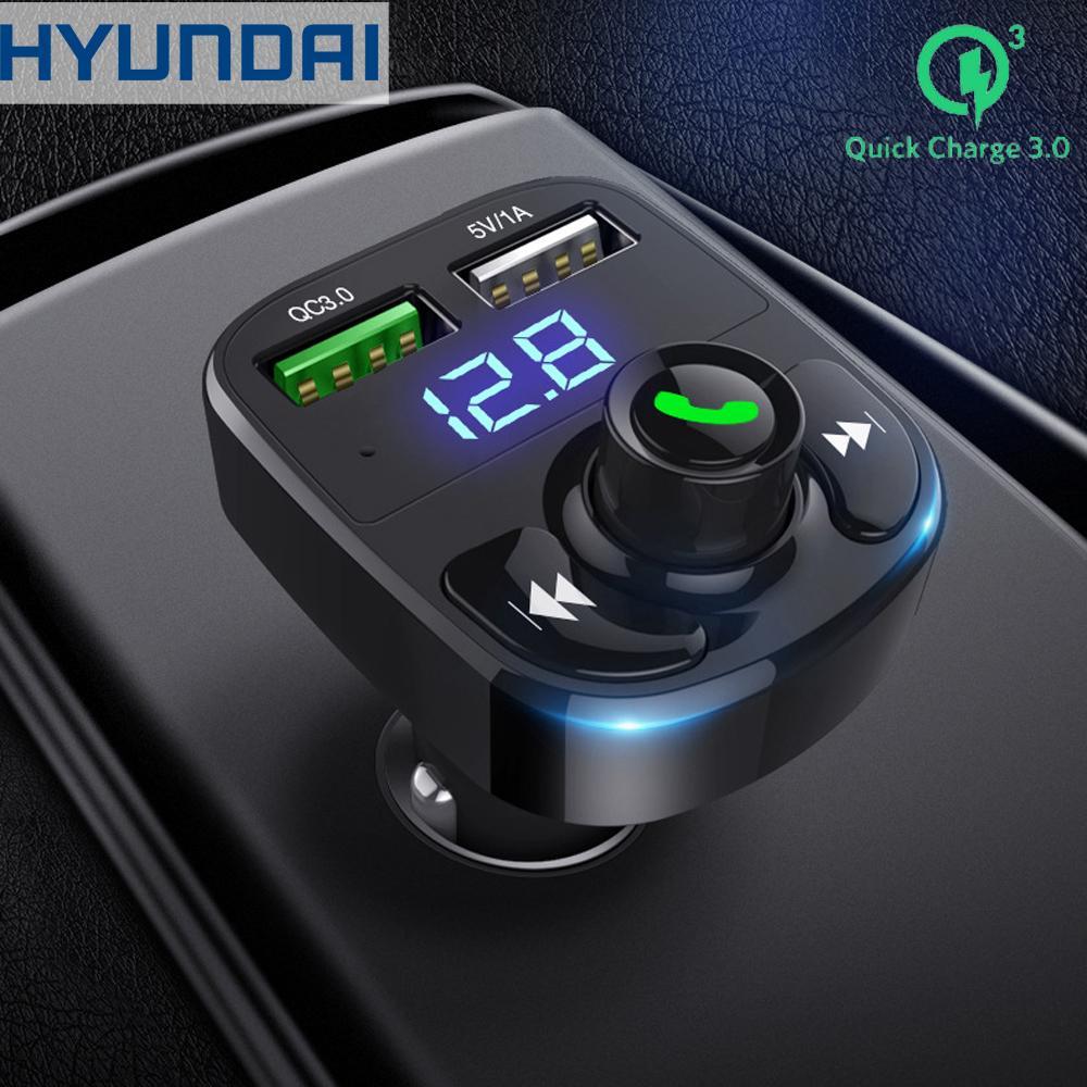 Tẩu phát nhạc Bluetooth trên ô tô, hỗ trợ đàm thoại rảnh tay Hyundai HY82 - Sạc nhanh QC3.0