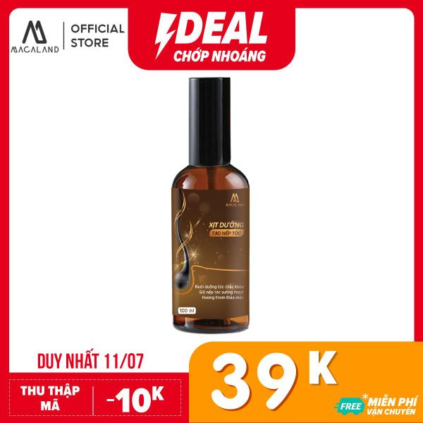 Xịt dưỡng tóc hương nước hoa hỗ trợ tạo nếp tóc 2in1 100ml MACALAND