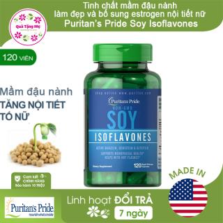 Tinh chất mầm đậu nành (tương) Puritan s Pride Non-GMO Soy Isoflavones 750mg làm đẹp và bổ sung estrogen nội tiết nữ (120 viên) thumbnail