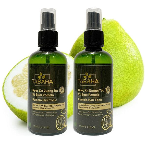Bộ 2 chai dưỡng tóc tinh dầu vỏ bưởi Pomelo TABAHA 120ml giảm rụng tóc