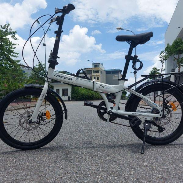 Mua xe đạp gấp Phoenix - Màu trắng