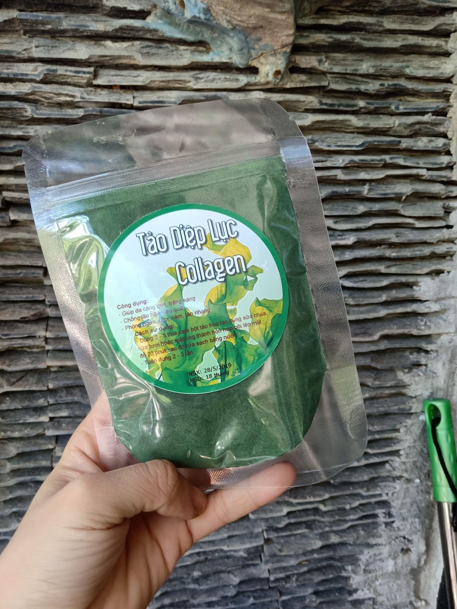 100g Tảo Diệp Lục Collagen  ( uống hoặc đắp măt đều thích )
