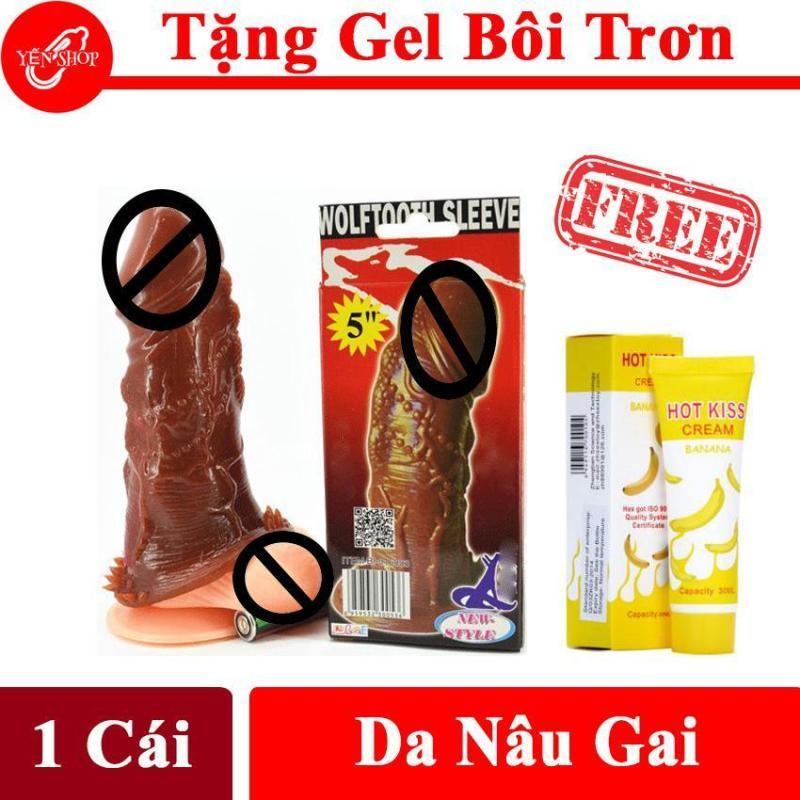 Bao Cao Su Đôn Dên Gai chất liệu siêu mềm màu da, co dãn tốt ôm sát mọi kích cỡ DV Tặng gel bôi trơn cao cấp