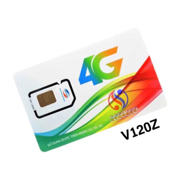 SIM 4G V120Z VIETTEL MIỄN PHÍ THÁNG ĐẦU - 90K/THÁNG - 4GB/NGÀY
