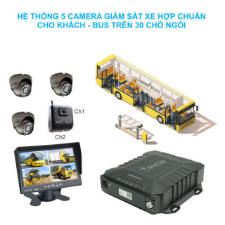 Hệ thống 5 camera giám sát hợp chuẩn NGHỊ ĐỊNH 10 cho xe khách - bus trên 30 chỗ ngồi Navicom HT05-ND10_Hàng chính hãng thumbnail