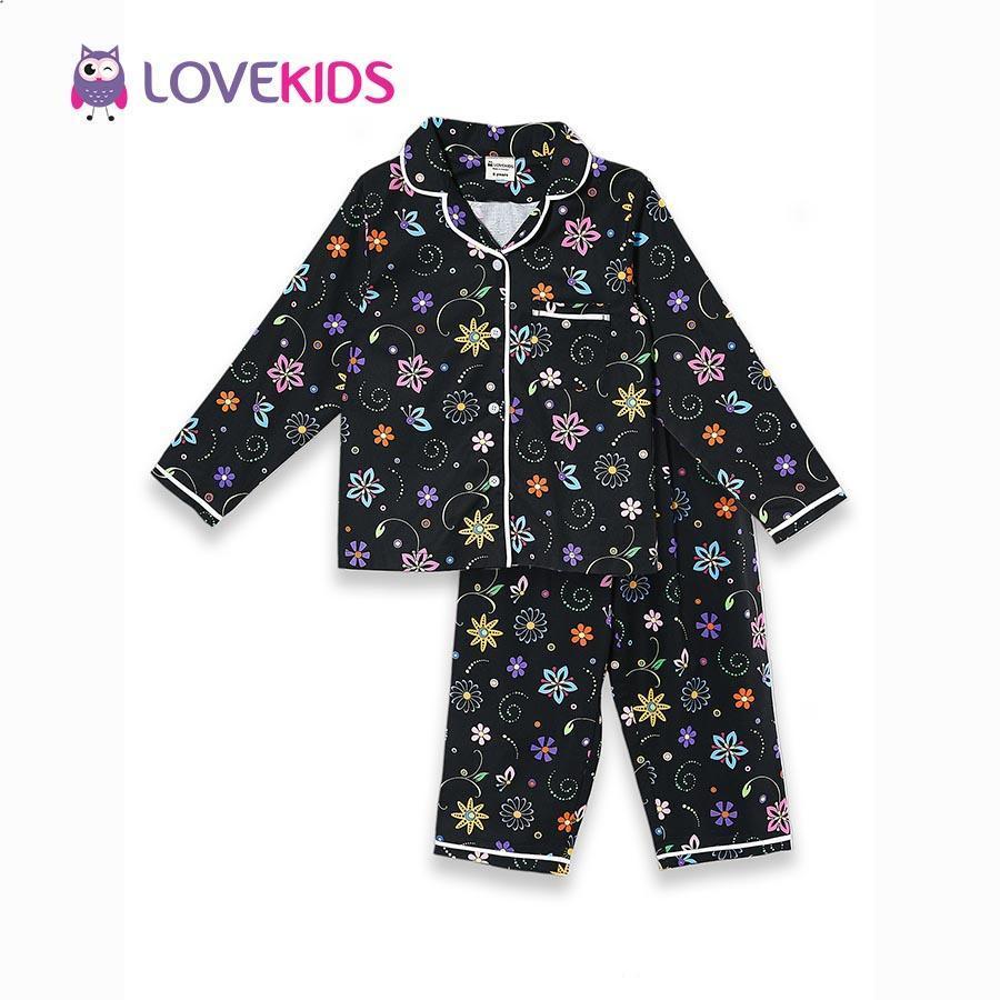 Giá bán Bộ mặc nhà bé gái - hoa đen Lovekids