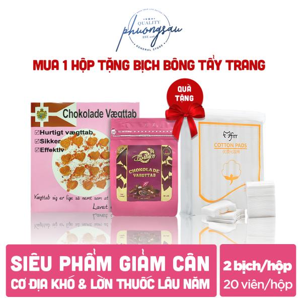 [CHÍNH HÃNG] Kẹo Socola Giảm Cân Đan Mạch Chokolade Vaegttab (Loại Hồng) + Quà tặng, 1 Gói 20 viên