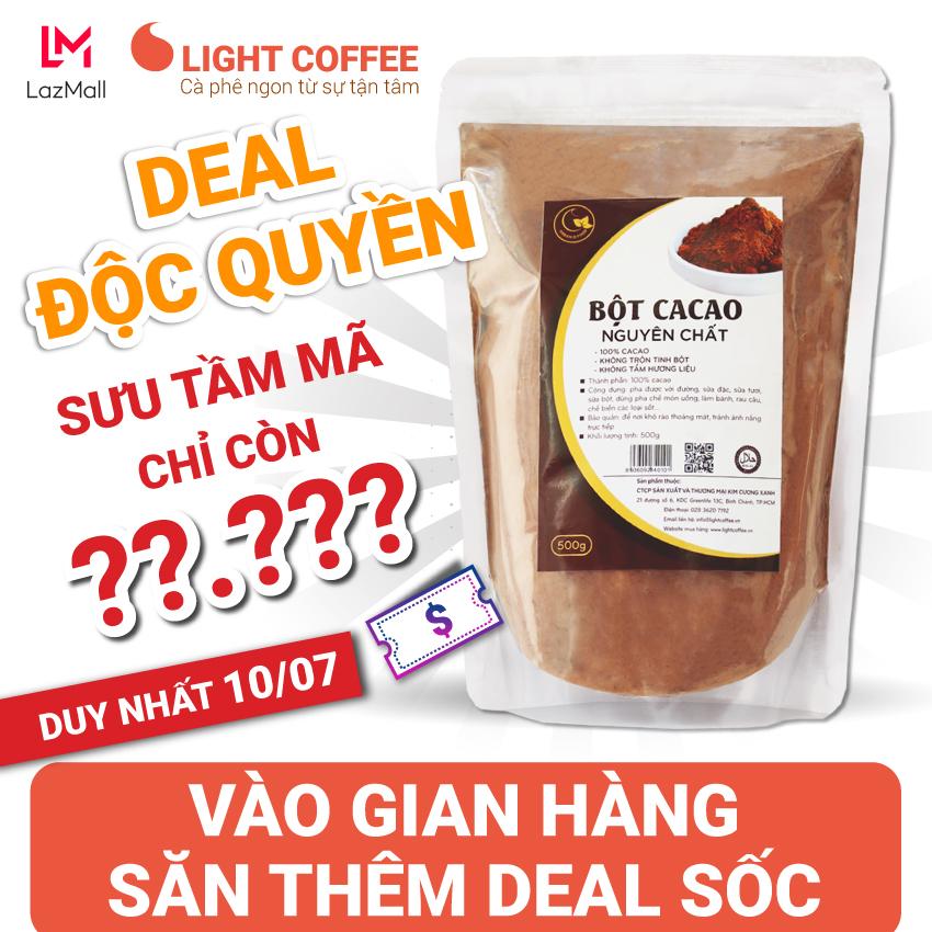 Giá Quá Tốt Để Có [SƯU TẦM MÃ GIẢM THÊM 20%] Bột Cacao Nguyên Chất Cao Cấp , Không Pha Trộn Tạp Chất , Dễ Tan, đậm đà, Light Ca Cao , 500g
