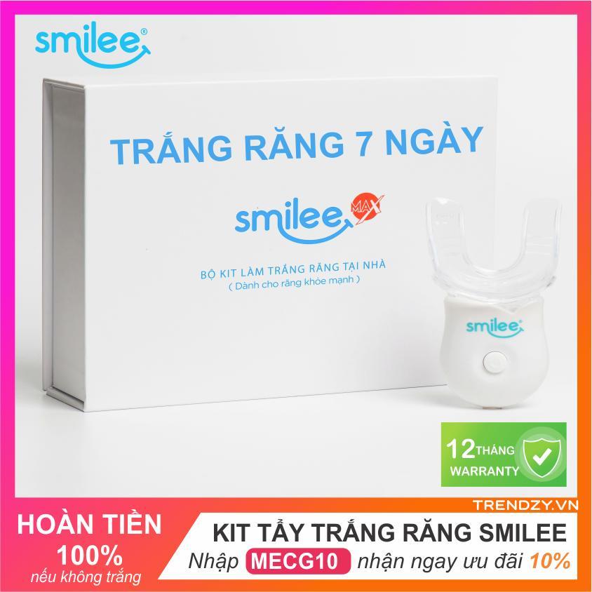 Bộ kit tẩy trắng răng tại nhà Smilee -  Tự làm trắng răng tại nhà chỉ 20 phút - răng trắng sau 7 ngày | Không gây ê buốt răng | Dùng được cho Răng không đều nhập khẩu