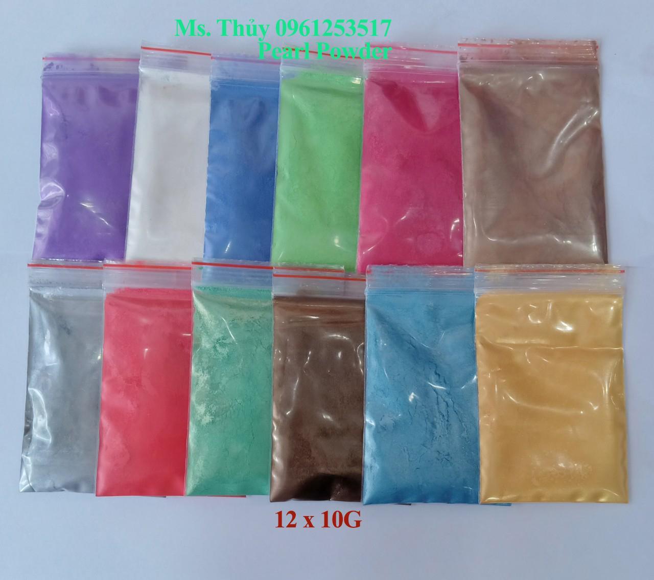 Mua Bộ 12 Bột Màu Nhũ Làm SLIME, Epoxy Resin, Sơn Móng Tay, In ấn Thiệp, Quảng Cáo,...
