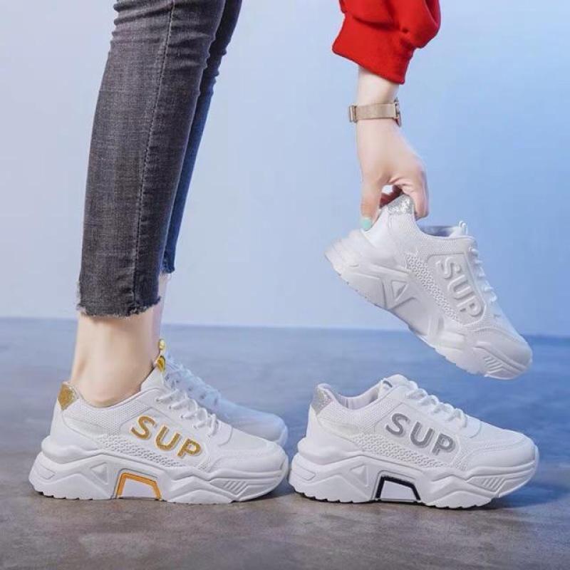 Giày thể thao nữ độn đế chữ SUP mới Mixteen Store