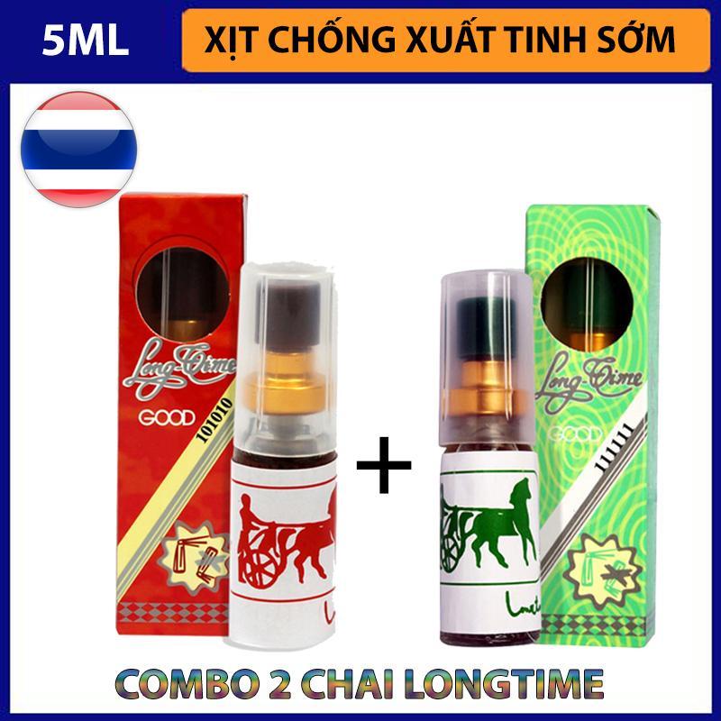 Combo 2 chai xịt chống xuất tinh sớm LongTime Thái Lan (Nóng + Lạnh) cao cấp