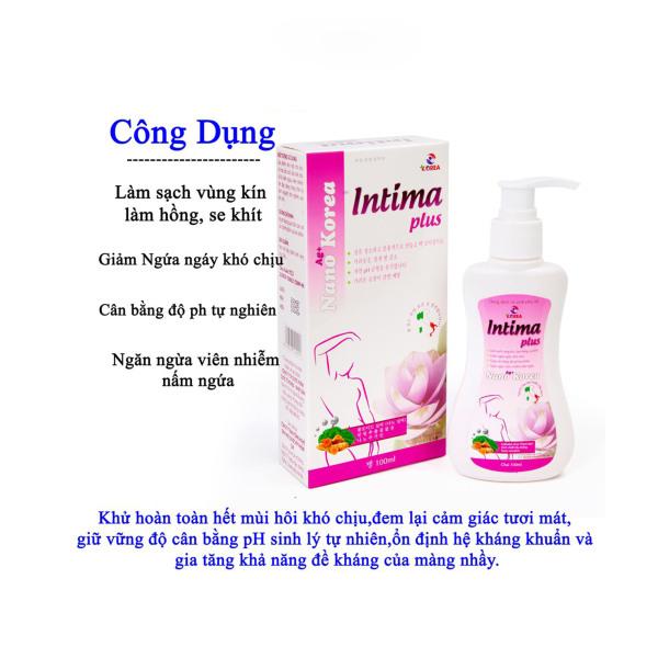 Dung dịch vệ sinh phụ nữ Intima plus Giảm Viêm Ngứa Gel X2 Nano chai 100ml dạng gel siêu tiết kiệm - Hàng Chính Hãng giá rẻ