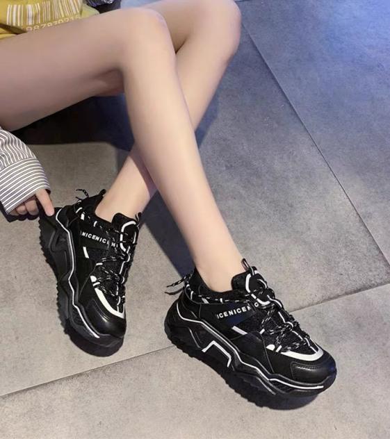 (2 MÀU) giày nữ thể thao BALENN viền phản quang Ulzang cao cấp siêu cá tính 2 màu Đen Trắng đẳng cấp giá rẻ
