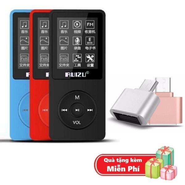 ( Quà tặng Đầu OTG cho điện thoại Android ) Máy nghe nhạc mp3 Ruizu X02 bộ nhớ trong 8G hỗ trợ thẻ nhớ lên đến 64G cao cấp
