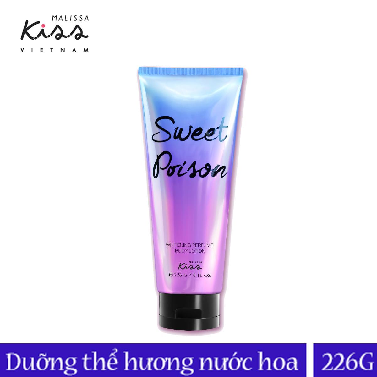 Sữa dưỡng trắng da toàn thân Malissa Kiss hương nước hoa Sweet Poison 226ml tốt nhất