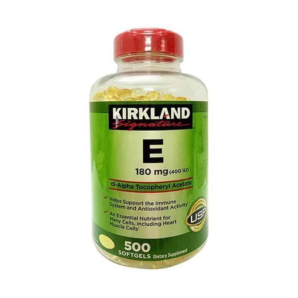 [Date 03/23] Viên uống bổ sung Vitamin E 180mg 400 I.U Kirkland Signature Hộp 500 viên nhập khẩu