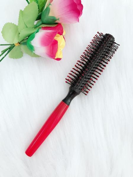 Một cây lược gai tròn,giúp cuộn tóc,cúp đuôi tóc,mẫu y hình.