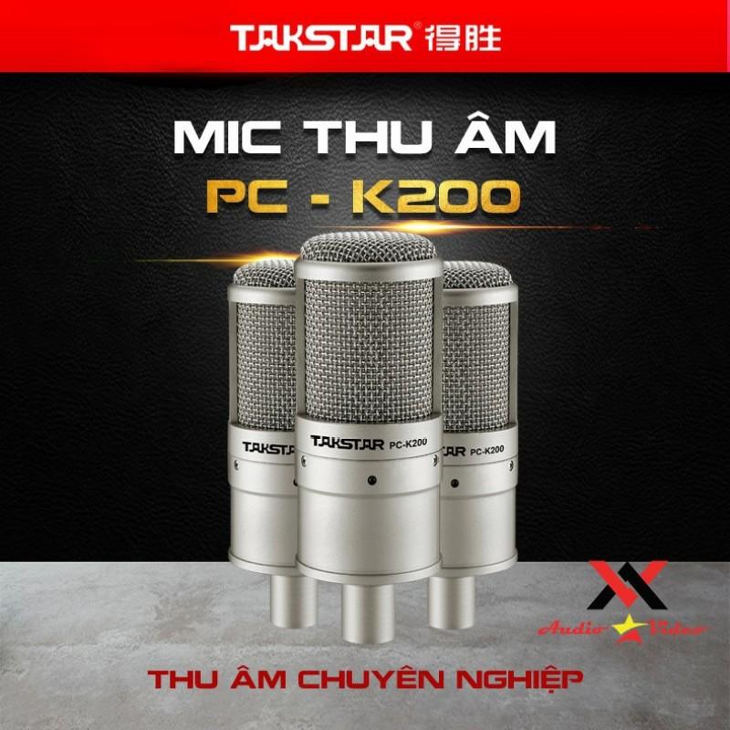 [Sỉ lẻ một giá] Mic thu âm chuyên nghiệp cao cấp Takstar PC-K200 tặng dây XLR-XLR hát karaoke, livestream