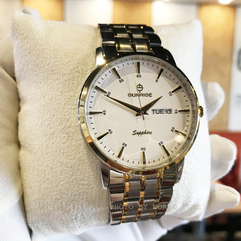 Nơi bán Đồng hồ thời trang Nam Sunrise DM1216SWA [Full box],kính Sapphire chống xước, chống nước, bảo hành 3 năm.
