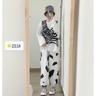 Quần Jogger Bò Sữa Chất Cotton Mềm Freesize Dưới 60Kg Hera Boutique thumbnail