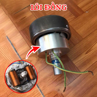 Củ phát điện gắn xe máy - Dòng điện 220V - Công suất 1600W - Lõi đồng 100% - phát điện gắn xe máy - Máy phát điện gia đình - cu phat dien gan xe may thumbnail