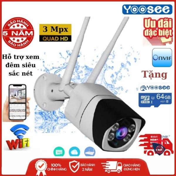 Tùy Chọn Thẻ Nhớ Yoosee- Camera Wifi trong nhà - ngoài trời YOOSEE S10, 3.0 Mpx - UltraHD,camera WIFI KHÔNG DÂY Full HD XEM ĐÊM CÓ MÀU, chống nước tuyệt đối,góc rộng(CÓ 2 MÃ SẢN PHẨM : CHƯA KÈM THẺ, KÈM THẺ 32 GB)
