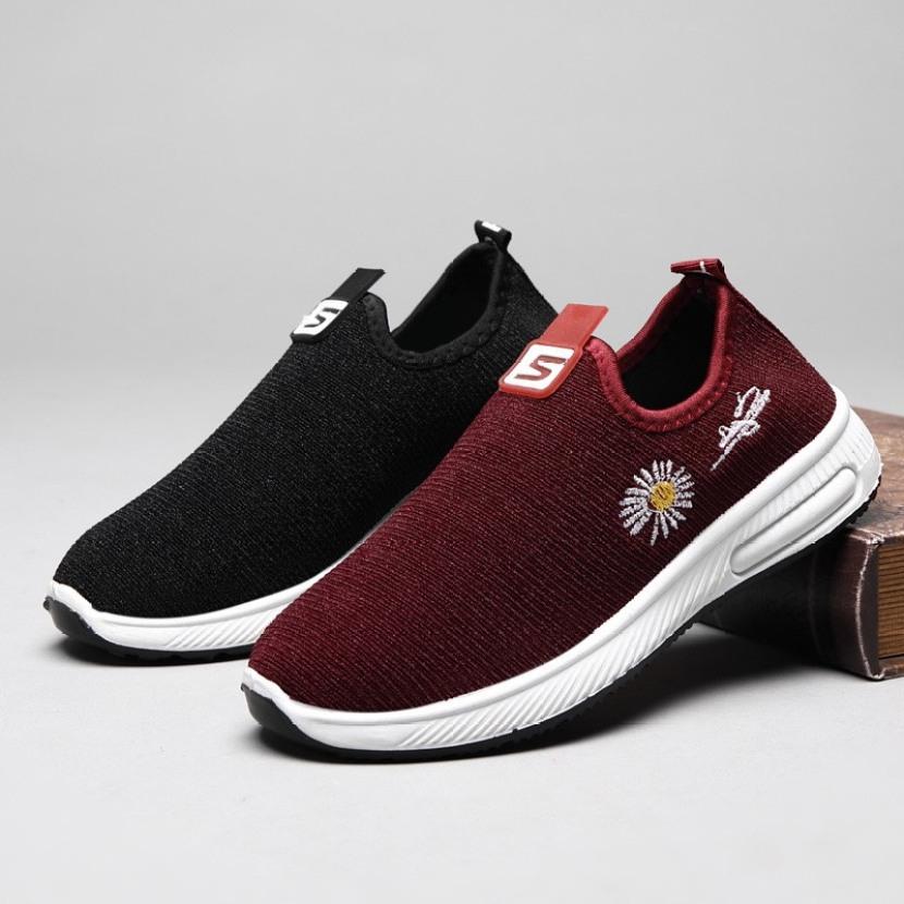 Giày lười vải nữ - giày lười đi bộ tập thể dục thoáng khí êm chân dễ đi - MinhNhat giá rẻ