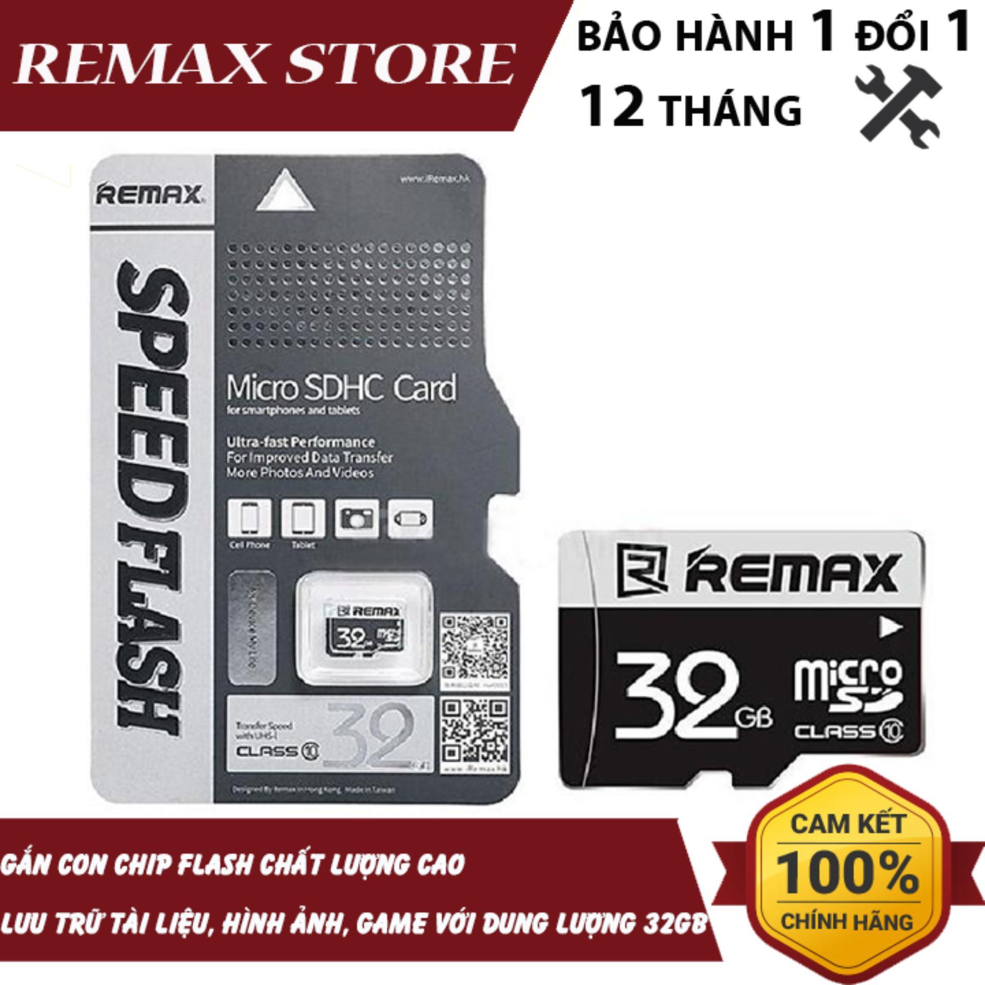 Thẻ Nhớ MicroSD Remax 32Gb Class 10 Giá Tốt Duy Nhất tại Lazada