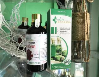 Dầu massage hoa hồng, dầu massage yoni chai 100ml thumbnail