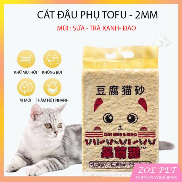 Cát vệ sinh cho mèo TOFU, Cát đậu nành hữu cơ (Mùi hương trà xanh)