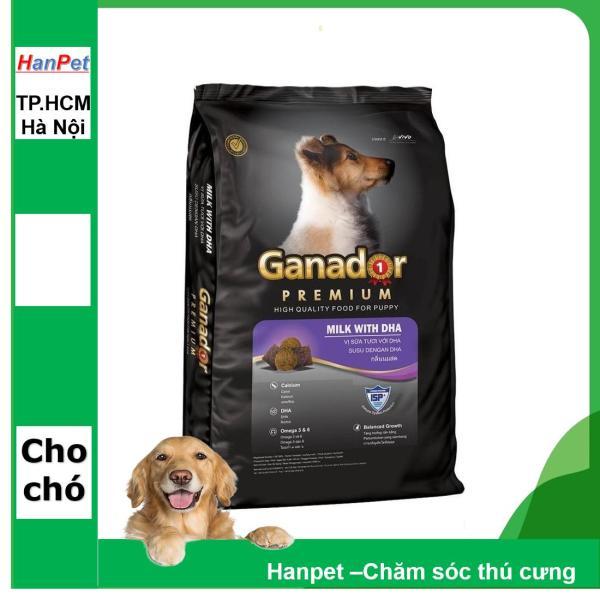 HM-Thức ăn dạng hạt cao cấp GANADOR PUPPY - gói 3kg (dành cho chó dưới 1 năm tuổi) (HoaMy A 209b)