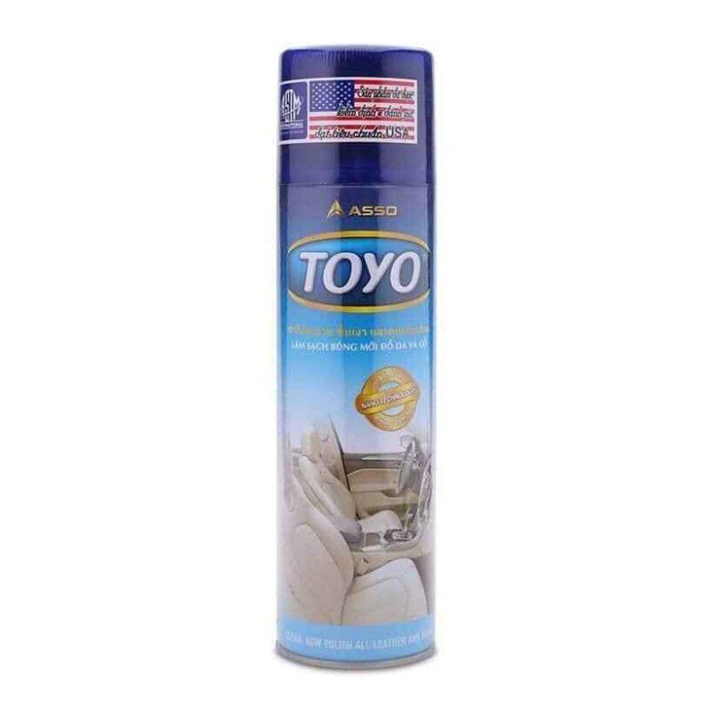 Chai xịt làm bóng mới và phuc hồi đồ da, nhựa, gỗ TOYO 500ml