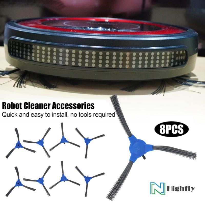 8 Cái Side Brush Cho Eufy RoboVac 11S RoboVac 30 Quét Robot Cleaner Phụ Kiện