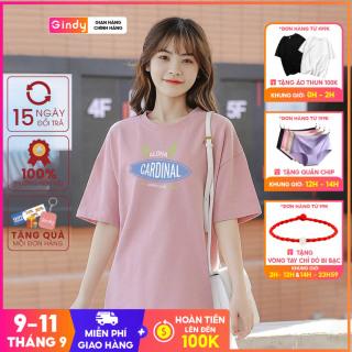 Áo phông nữ Gindy áo thun cotton tay lỡ in hình unisex form rộng đẹp Hàn Quốc A6131 thumbnail